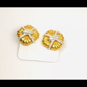 Clip Ons Fashion Gold Earrings